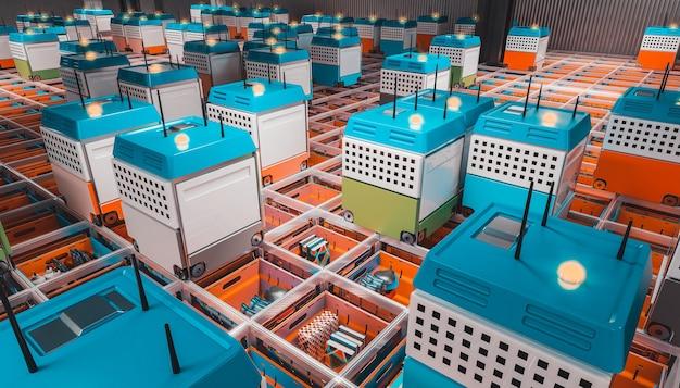 Automatisation d'un entrepôt moderne.