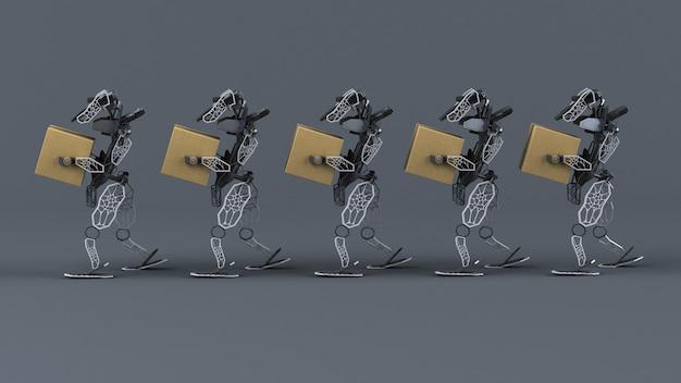 Automatisation générative - illustration 3d