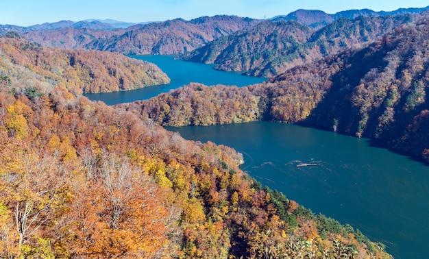Automne à tadami fukushima au japon