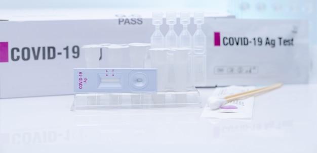 Autotest de l'antigène covid 19 pour écouvillon nasal kit de test d'antigène à usage domestique pour la détection du coronavirus