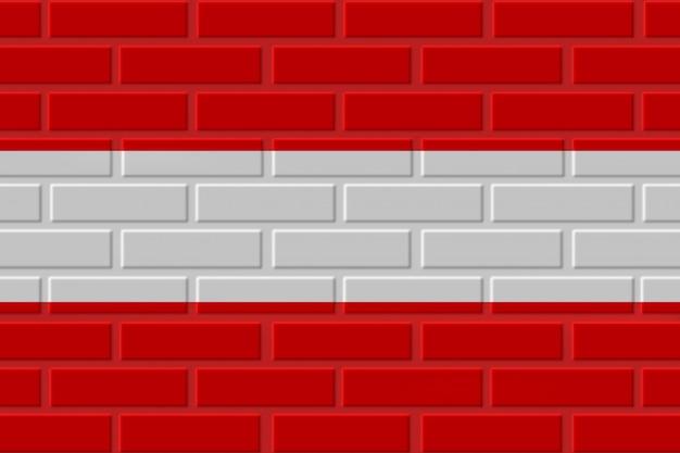 Autriche drapeau illustration de brique