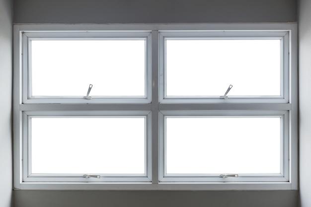Auvent en aluminium avec fenêtre à clipser à l'intérieur