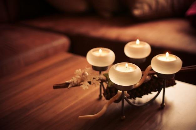 Avènement bougies 2,013 droite de photo libre