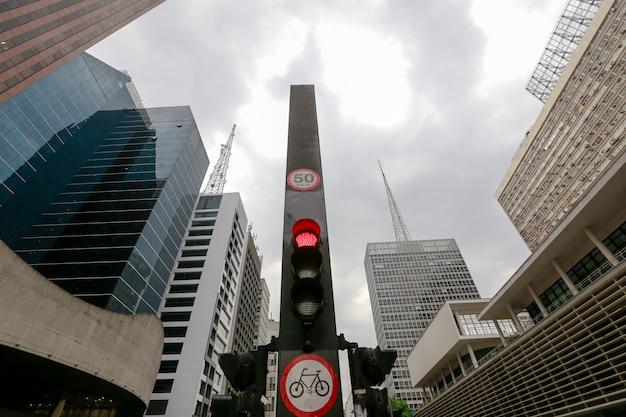 Avenue paulista, sao paulo, brésil