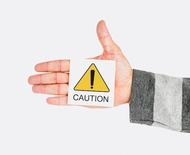 Avertissement avertissement erreur critique avis d'échec