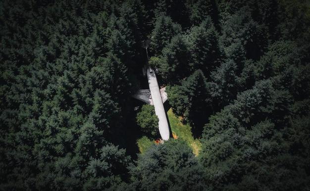 Un avion dans les bois à hillsboro, oregon, usa
