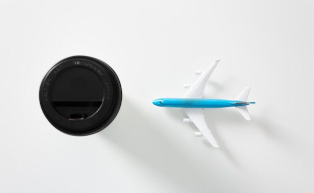 Avion avec fond