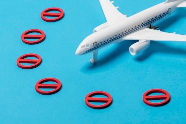 Avion à grand angle sans symbole