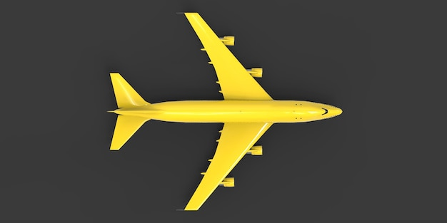 Avion de grande capacité de grande capacité pour les longs vols transatlantiques avion jaune