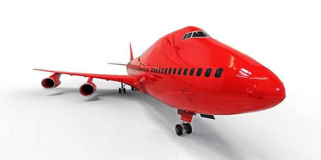 Avion de grande capacité de grande capacité pour les longs vols transatlantiques avion rouge