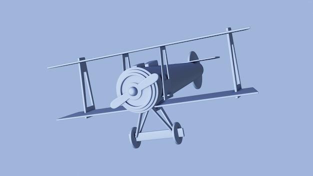 Avion jouet bleu
