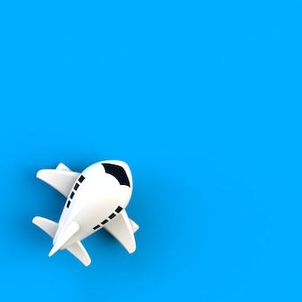 Avion jouet sur bleu