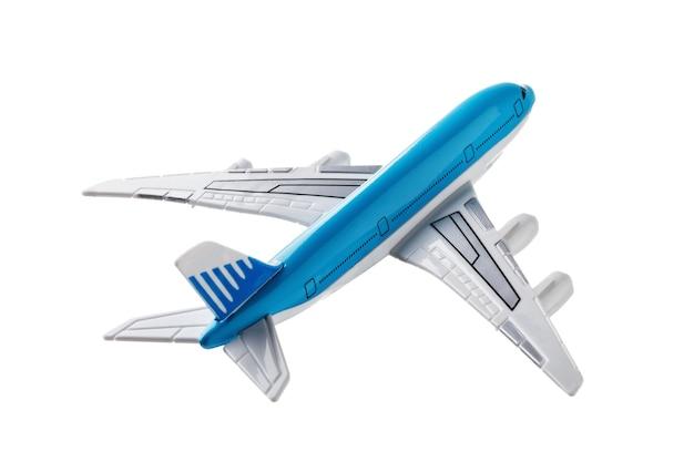 Avion jouet sans nom, isolé sur fond blanc