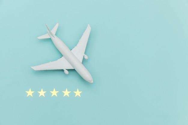 Avion miniature miniature tout simplement plat et 5 étoiles