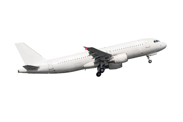 Avion à moteur à réaction blanc