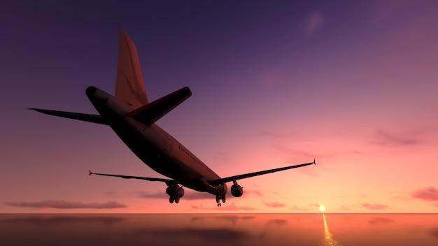 Avion sur l'océan.