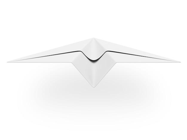 Avion en papier isolé sur blanc