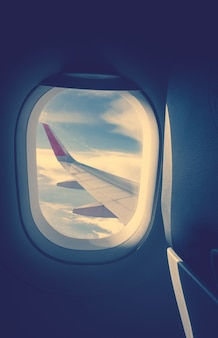 Avion, personne, avion, horizon, classe