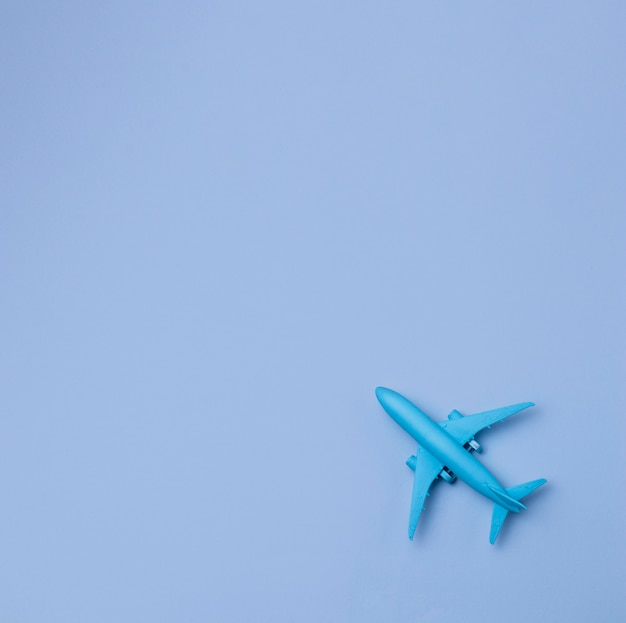 Avion vue de dessus avec espace copie
