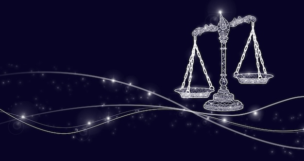 Avocat droit du travail juridique des affaires. concept de justice et de droit. conseils juridiques. droit de la justice, tribunal de poids à l'échelle des avocats, concept d'autorité.