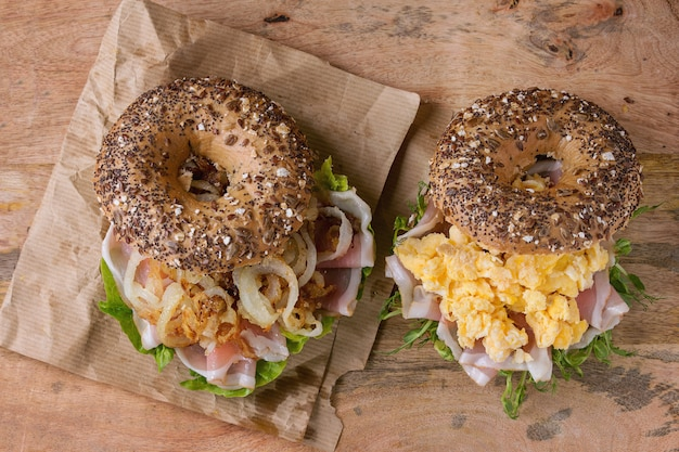 Bagel de grains entiers