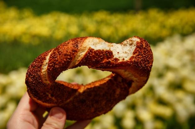 Bagel turc au sésame