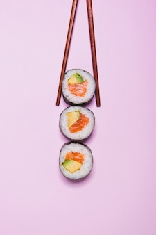 Baguettes, prendre, sushi