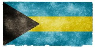 Bahamas grunge flag