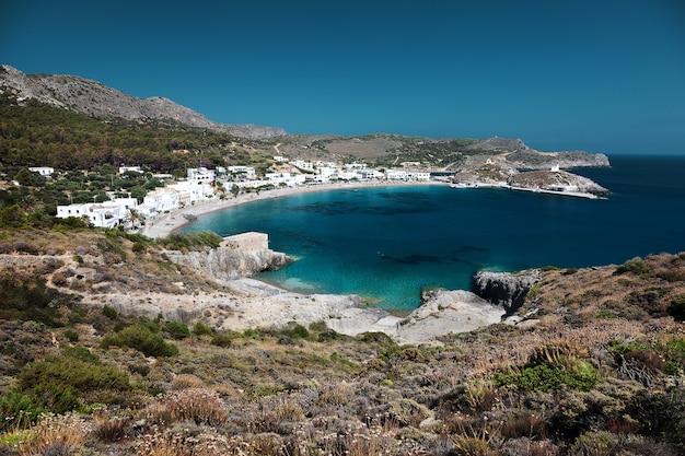 Baie de kapsali, île de kithira, grèce.