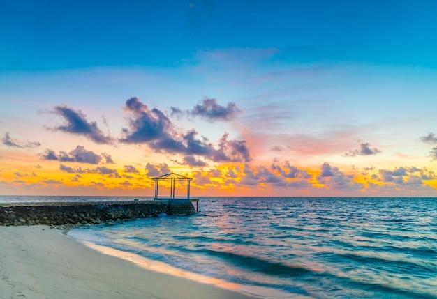 Baie de la lagune paradis eau tropicale