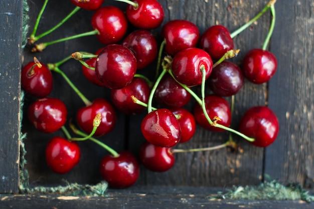 Baies cerises fruits sucrés