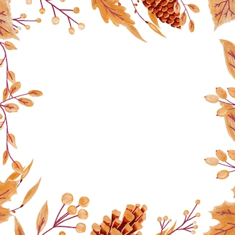Baies et feuilles d'automne dorées