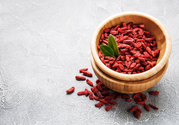 Baies de goji rouges sèches