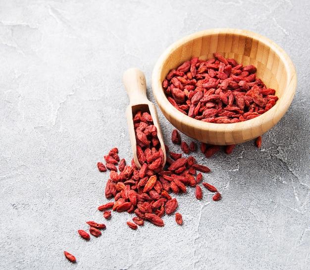 Baies de goji rouges sèches