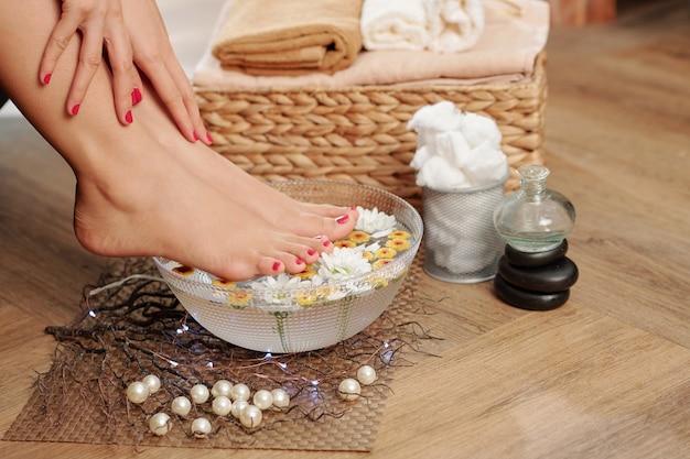 Bain de pieds bricolage