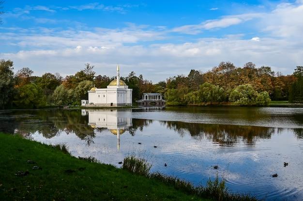 Bain turc du palais de catherine. la chaude journée d'automne. un bel endroit. histoire