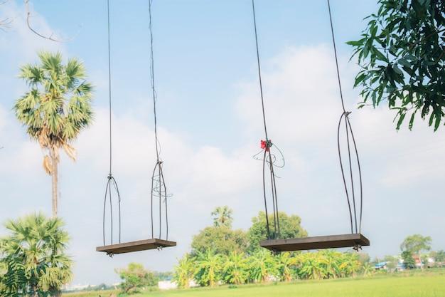 Balancer sur un arbre dans la campagne.