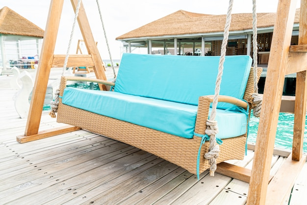 Balançoire pour canapé avec complexe tropical des maldives et mer
