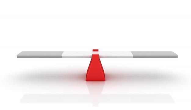 Balançoire vide - concept d'équilibre