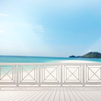 Balcon et terrasse avec vue sur la mer