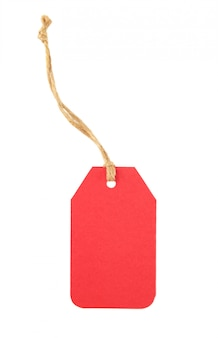 Balise de vente rouge isolé sur blanc. vendredi noir