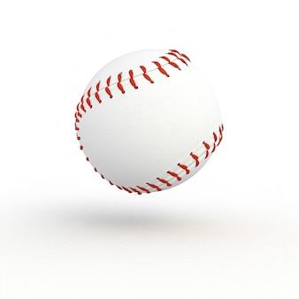Balle de baseball classique sur blanc.