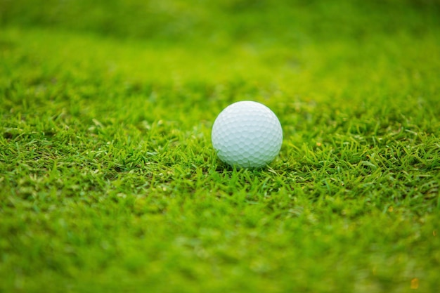 Balle de golf sur le green