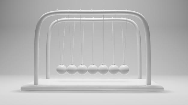 Balle de newton, conception de boule d'équilibre, élan, mouvement, isoler, rendu 3d