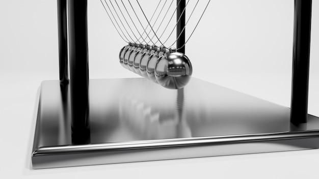 Balle de newton, conception de boule d'équilibre, mouvement d'élan, rendu 3d