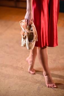 Ballerine pointe shoes