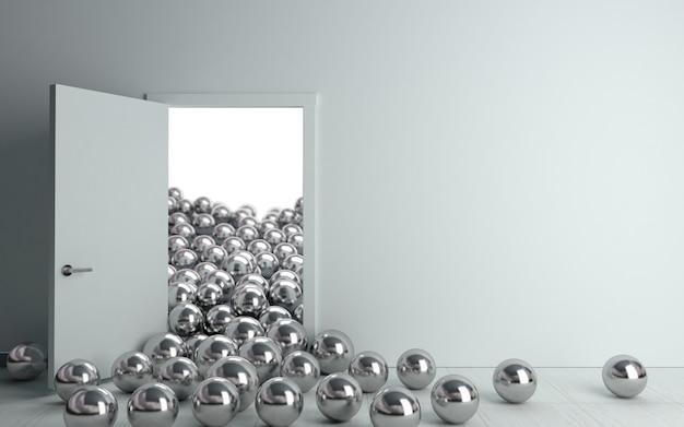 Balles et portes intérieures conceptuelles