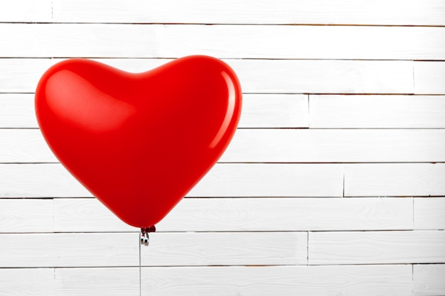 Ballon coeur rouge