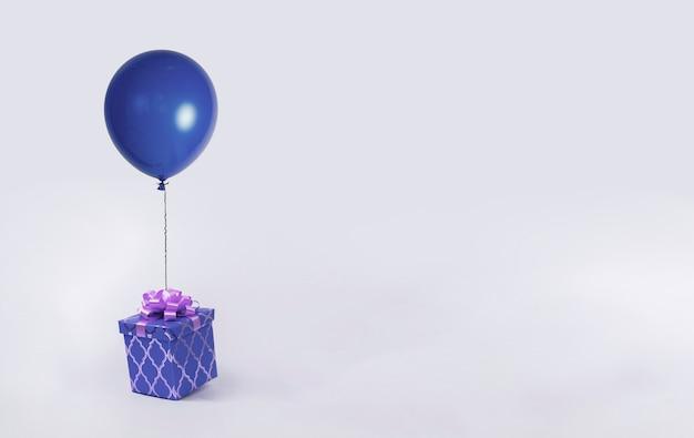 Le ballon de couleur vole dans les airs entre les nuages, idée d'imagination créative