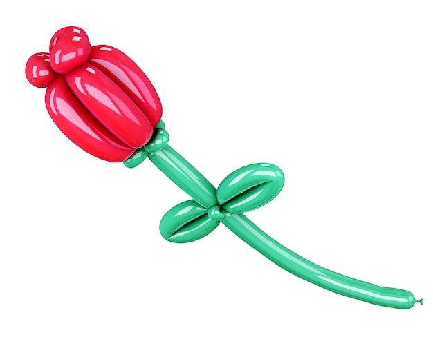 Ballon de fleur 3d isolé sur blanc. illustration 3d.